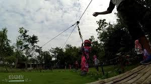 Sementara untuk hari libur atau weekend harga tiket masuknya sama seperti hari kerja yaitu sebesar ro 55. Outbound Flying Fox Alas Prambon Sidoarjo Pg Aisyah 48 Surabaya Youtube