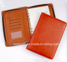 china fashionable executive zipper a5 pu leather portfolio planner 6 ring binder agenda notebook china leather agenda moleskine notebook