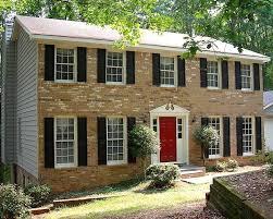 yellow brick house red door. with modern concept yellow house dark red brick door h
