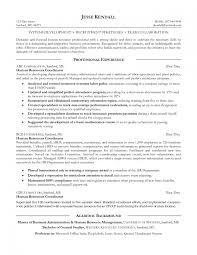 Hr Generalist Resume Objective Examples Formidable Human Resource Resume Sample On Hr Generalist Endearing 10