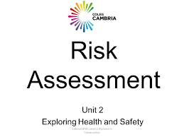 edexcel btec level diploma in construction risk assessment unit  1 edexcel btec level 2 diploma in construction risk assessment unit 2 exploring health and safety