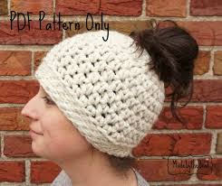 Ponytail Hat Crochet Pattern Awesome Messy Bun Hat Crochet Pattern Ponytail Hat Pattern Crochet Etsy