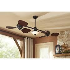twin breeze ii 6 blade oil rubbed bronze indoor outdoor ceiling fan w light