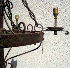 this item is now sold antique french iron chandelier meval gothic style very heavy handmade hand riveted meval candle chandelier