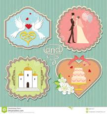 Wedding Label Templates Label With Wedding Elements Stock Vector Illustration Of Groom