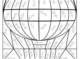 Multiplication Coloring Worksheets Fun 6th Grade Math 2nd 4th Pdf