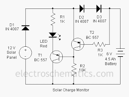 solar charger monitor circuit
