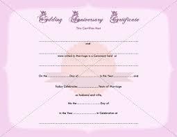 Anniversary Certificate Template Inspiration Wedding Anniversary Certificate Printable Template
