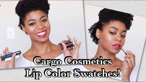 1st Impressions & Swatches! <b>Cargo Cosmetics</b> Lipcolors, Matte Top ...