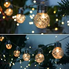 Battery Powered Outdoor Globe Lights Kapata Outdoor Globe String Light Battery Powered Waterproof 20leds 19 6ft Warm White String Lights For Home Garden Party Festival
