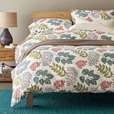 bed of leaves flannel duvet cover sham