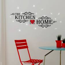 wfx3102ss16 kitchen quotes wall sticker and swaroski crystals
