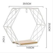 CUILID Iron Hexagonal Grid Wall Shelf Combination ... - Amazon.com