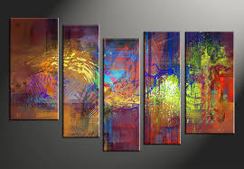 vvvart reviews 5 piece abstract decor colorful oil paintings multi panel art on wall paintings artistic with vvvart reviews 5 piece abstract decor colorful oil paintings multi