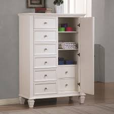 StealASofa Furniture Outlet White Wood Chest Of Drawers