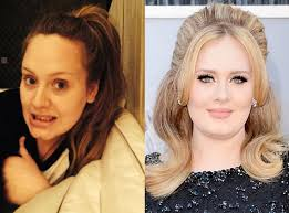 adele from stars without makeup
