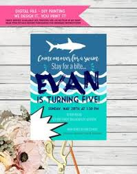 Shark Birthday Pool Party Invitation | Pinterest | Birthday Pool ...