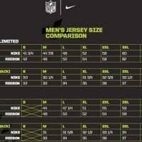 Reebok Jersey Size Chart Nfl Bedowntowndaytona Com