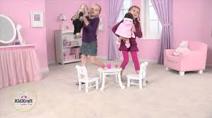 Kidkraft Heart Table And Chair Set Kidkraft Lil Doll Table Chair Set 60133 Youtube
