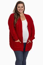 plus size cardigans on sale red cable knit plus size maternity cardigan
