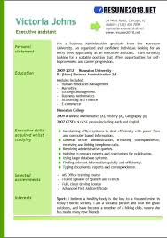 Microsoft Office Resume Templates 2018 Magnificent Executive Assistant Resume Examples 28 Resume 28
