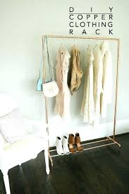 pipe clothing rack wall mounted diy pipe clothes rack clothing hooks hanger for clothes copper