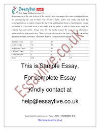 media and criminal justice essay sample  4