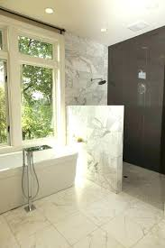 decoration shower half wall how to build a bathroom contemporary with tile white height