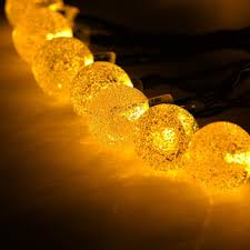 decorative string lighting. 30LED Fairy String Lights Bubble Crystal Ball Decorative Lighting For Indoor Garden Home Holiday Decorations(Warm White)