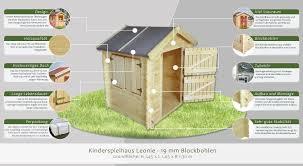 Kinder Spielhaus Leonie 105 X 130 Meter Aus 19mm Blockbohlen