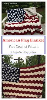 American Flag Crochet Pattern Cool American Flag Blanket Free Crochet Pattern