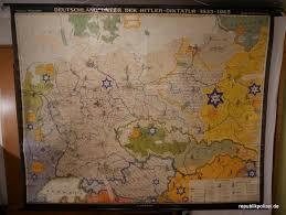 Events in the year 1933 in germany. Schulwandkarte 2 Deutschland Unter Der Hitlerdiktatur 1933 1945 Republikpolizei