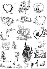 decorative heart vectors free vector