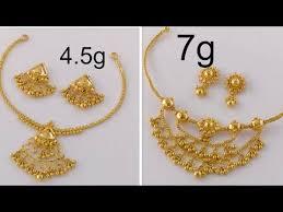 designer light weight gold necklaces