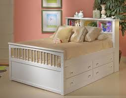 full size bed with storage underneath. Contemporary Full Captain Girls Full Size Bed With Storage Underneath In White Nice Designs  Ideas Of Intended