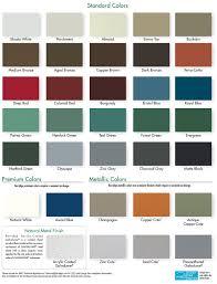 Taylor Metal Products Color Chart Kynar 500 24 Gauge Standing Seam Metal Roof