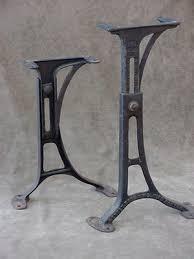 vintage industrial furniture tables design. vintage machine age industrial adjustable cast iron table legs kenny bros usa furniture tables design