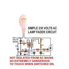 how to build ac dc light fader circuits light fader ac circuit diagram image
