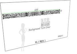 fashion creative european luxury backdrop waist line mirror wall