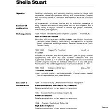 Early Childhood Education Resume Samples For Study Throughout