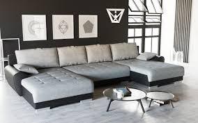 Couchgarnitur U Form Mit Schlaffunktion Und Bettkasten Schwarzgrau