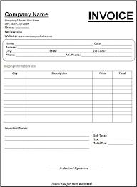 General Invoice Amazing 48 Blank Invoice Template Zasvobodu