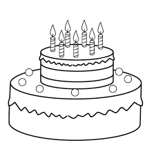 Small Picture Cake coloring pages with candles ColoringStar