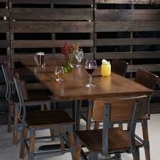 lancaster table seating 30 x 72 solid wood live edge table top with antique walnut finish