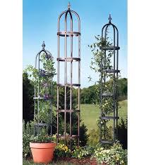 powder coated steel garden obelisks and