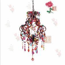 bohemian hand woven acrylic multicolored plastic beads e14 multi colored chandeliers
