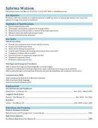 Functional Resume For Medical Assisting Field