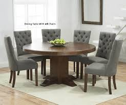Mark Harris Turin 150cm Solid Dark Oak Round Pedestal Dining Set