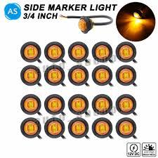 3 4 Led Marker Lights Ebay Sponsored Ebay 20 Pcs Amber 3 Led High Low 3 4 Inch Round