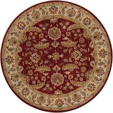 john red 10 ft x 10 ft round area rug